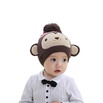 3c2e2812fc9 Warm Comfortable Cute Monkey Shape Design Knitted Hat for Kids